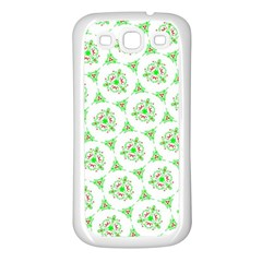 Sweet Doodle Pattern Green Samsung Galaxy S3 Back Case (white)