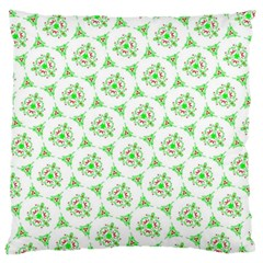 Sweet Doodle Pattern Green Large Flano Cushion Cases (two Sides)