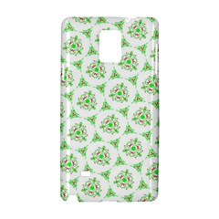 Sweet Doodle Pattern Green Samsung Galaxy Note 4 Hardshell Case