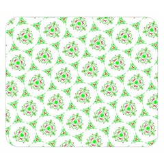 Sweet Doodle Pattern Green Double Sided Flano Blanket (Small)