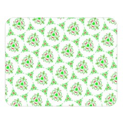 Sweet Doodle Pattern Green Double Sided Flano Blanket (Large)