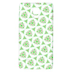 Sweet Doodle Pattern Green Galaxy Note 4 Back Case