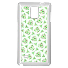 Sweet Doodle Pattern Green Samsung Galaxy Note 4 Case (White)