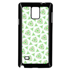 Sweet Doodle Pattern Green Samsung Galaxy Note 4 Case (Black)