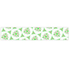 Sweet Doodle Pattern Green Flano Scarf (Large)
