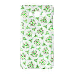 Sweet Doodle Pattern Green Samsung Galaxy A5 Hardshell Case