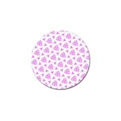 Sweet Doodle Pattern Pink Golf Ball Marker (4 Pack)