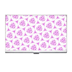 Sweet Doodle Pattern Pink Business Card Holders