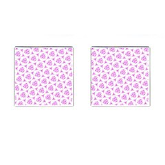 Sweet Doodle Pattern Pink Cufflinks (Square)