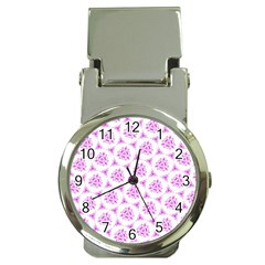 Sweet Doodle Pattern Pink Money Clip Watches