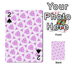 Sweet Doodle Pattern Pink Playing Cards 54 Designs