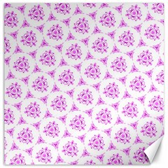 Sweet Doodle Pattern Pink Canvas 16  x 16