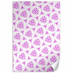 Sweet Doodle Pattern Pink Canvas 24  X 36