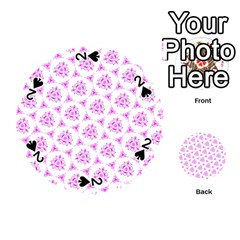 Sweet Doodle Pattern Pink Playing Cards 54 (Round)
