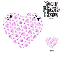 Sweet Doodle Pattern Pink Playing Cards 54 (Heart)