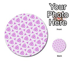 Sweet Doodle Pattern Pink Multi Purpose Cards (round)