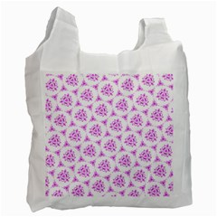 Sweet Doodle Pattern Pink Recycle Bag (Two Side)