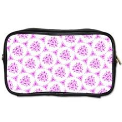 Sweet Doodle Pattern Pink Toiletries Bags 2 Side