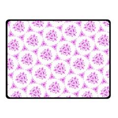 Sweet Doodle Pattern Pink Fleece Blanket (Small)