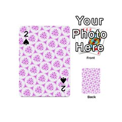 Sweet Doodle Pattern Pink Playing Cards 54 (Mini)