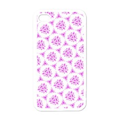Sweet Doodle Pattern Pink Apple iPhone 4 Case (White)
