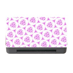 Sweet Doodle Pattern Pink Memory Card Reader With Cf