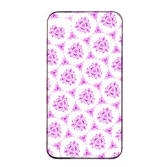 Sweet Doodle Pattern Pink Apple iPhone 4/4s Seamless Case (Black)