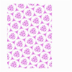 Sweet Doodle Pattern Pink Small Garden Flag (Two Sides)