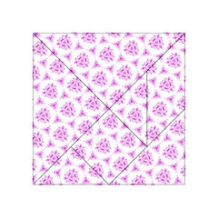 Sweet Doodle Pattern Pink Acrylic Tangram Puzzle (4  X 4 )