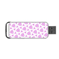Sweet Doodle Pattern Pink Portable Usb Flash (one Side)
