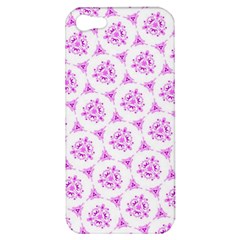 Sweet Doodle Pattern Pink Apple iPhone 5 Hardshell Case