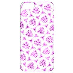 Sweet Doodle Pattern Pink Apple iPhone 5 Classic Hardshell Case