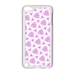 Sweet Doodle Pattern Pink Apple iPod Touch 5 Case (White)