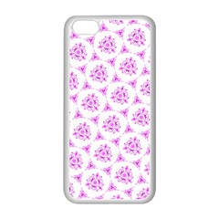 Sweet Doodle Pattern Pink Apple Iphone 5c Seamless Case (white)