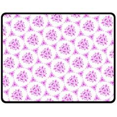 Sweet Doodle Pattern Pink Double Sided Fleece Blanket (Medium)