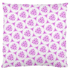 Sweet Doodle Pattern Pink Large Flano Cushion Cases (Two Sides)