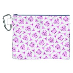 Sweet Doodle Pattern Pink Canvas Cosmetic Bag (XXL)