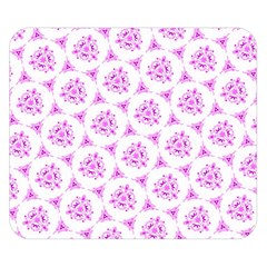 Sweet Doodle Pattern Pink Double Sided Flano Blanket (Small)