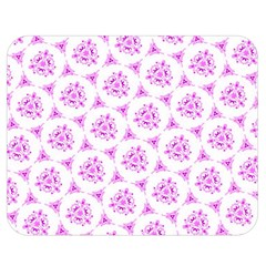 Sweet Doodle Pattern Pink Double Sided Flano Blanket (Medium)