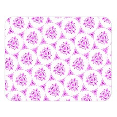 Sweet Doodle Pattern Pink Double Sided Flano Blanket (Large)