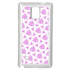 Sweet Doodle Pattern Pink Samsung Galaxy Note 4 Case (white)