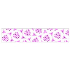 Sweet Doodle Pattern Pink Flano Scarf (Small)