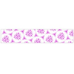 Sweet Doodle Pattern Pink Flano Scarf (Large)