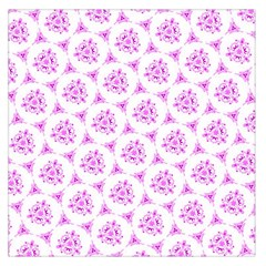 Sweet Doodle Pattern Pink Large Satin Scarf (Square)