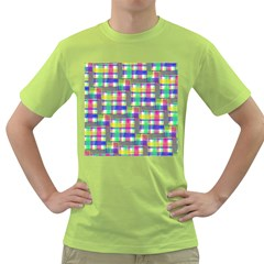 Doodle Pattern Freedom  Green T Shirt