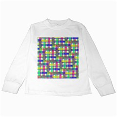 Doodle Pattern Freedom  Kids Long Sleeve T-Shirts