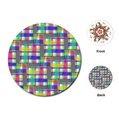 Doodle Pattern Freedom  Playing Cards (Round)
