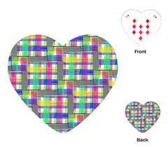 Doodle Pattern Freedom  Playing Cards (Heart)
