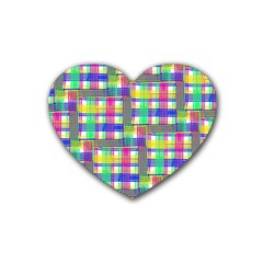 Doodle Pattern Freedom  Rubber Coaster (heart)