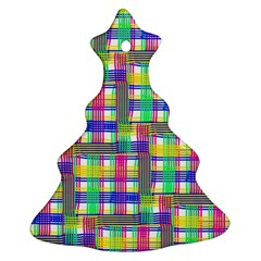 Doodle Pattern Freedom  Christmas Tree Ornament (2 Sides)